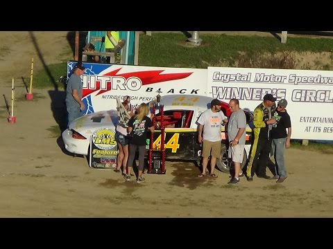 Flinn Stock Feature Race at Great Lakes Nationals, Crystal Motor Speedway on 09-18-16