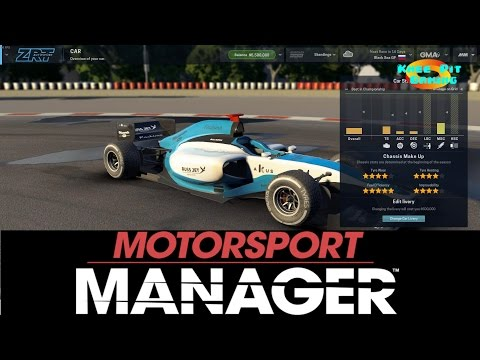 Motorsport Manager Let's Play #1 - Getting Started Gameplay
