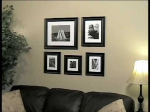 Picture frames hang your own wall gallery youtube for Wall templates for hanging pictures