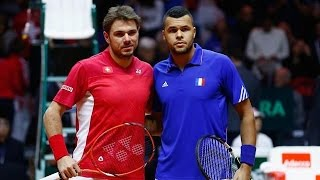 Stan Wawrinka VS Jo-Wilfried Tsonga Highlight 2014 Davis Cup F