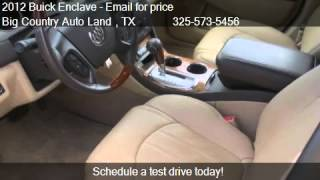 2012 Buick Enclave Premium for sale in Snyder, TX 79549 at B