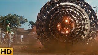 Инопланетное колесо атакует людей. Морской бой.
