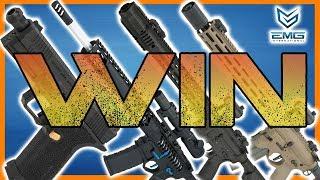 Win an EMG SAI BLU, F-1 BDR-15 3G, SAI GRY, or a Sharps Bros Overthrow