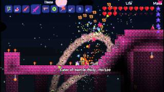 """Terraria - All bosses at the same time, """"The Deadly Trio"""""""