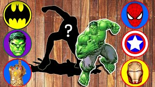 Wrong Superheroes Puzzle 슈퍼히어로 그림자 맞추기 퍼즐 놀이 헐크 아이언맨 스파이더맨 #1 LittleJoy 리틀조이