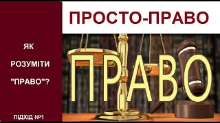 ПРОСТО-ПРАВО! Підхід№1: Як розуміти право? Адвокат Сергій Гула