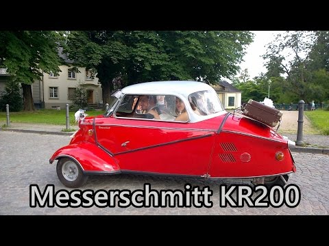 Messerschmitt KR200 bubble car close-up in Bonn.