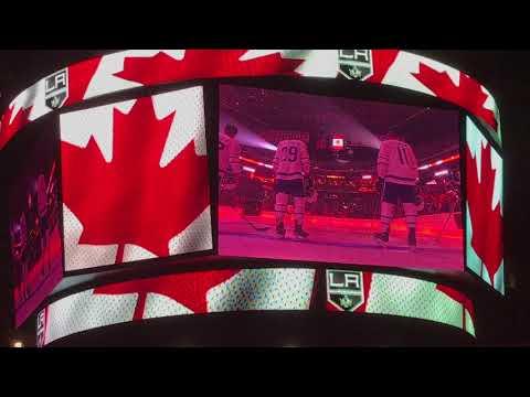 Canada anthem on LA Kings vs. Toronto Maple Leafs