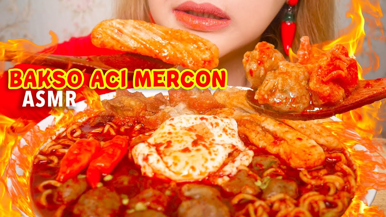 ASMR BAKSO ACI MERCON LEVEL PEDES EXTREME | ASMR Indonesia