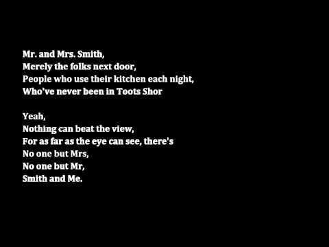 Mr. and Mrs. Smith (Smash) Male Part Only Karaoke