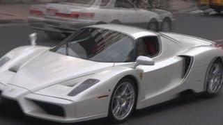 原宿を爆走するフェラーリ・エンツォ。Ferrari Enzo which lets an explosion sound. thumbnail