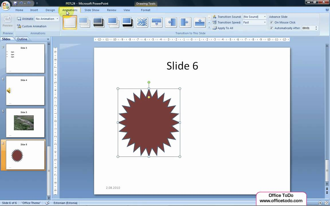 Powerpoint How To Set Up A Picture Or Any Other Image To Move On The Slide  F2 Animation Tab