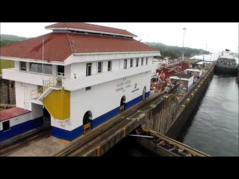 Holland America Zuiderdam Panama Canal Gatun Locks