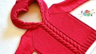 How To Knit Horseshoe Cable Pullover Part 4
