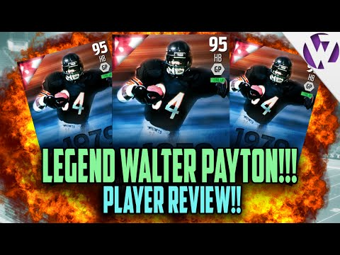 Madden 16 WALTER PAYTON Review (95) 95 Walter Payton Player Review Madden 16 Ultimate Team