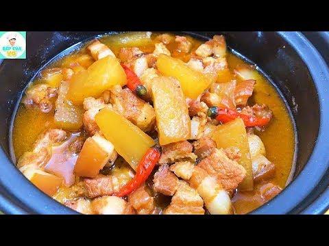 THỊT KHO CỦ CẢI | Cách kho thịt đơn giản | Bếp Của Vợ