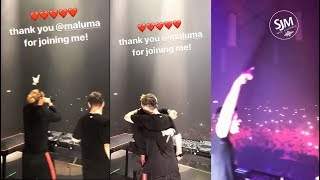 Martin Garrix y Maluma juntos en el escenario en Colombia ????➕❌????????