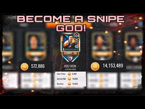 HOW TO SNIPE AND SELL IN NBA Live Mobile 20 +collecting My Auctions!
