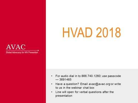 HVAD 2018 Webinar