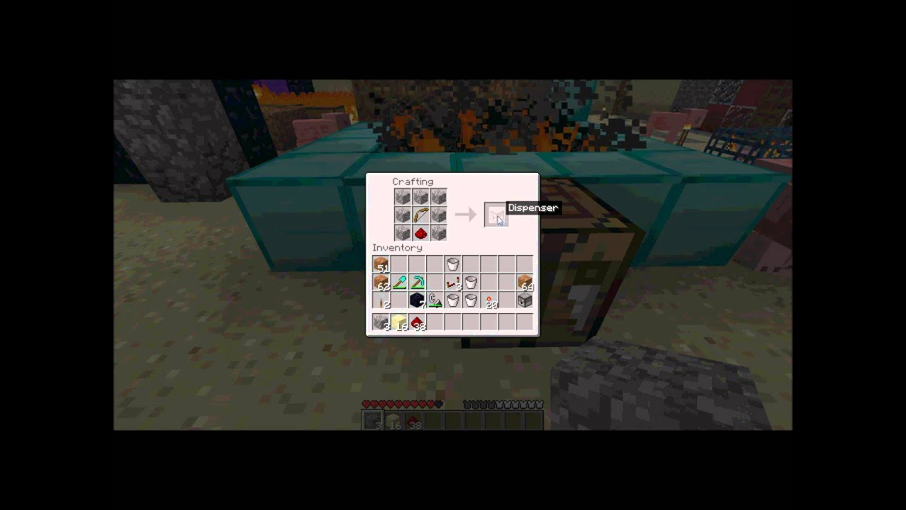 how to build a firework dispenser in minecraft