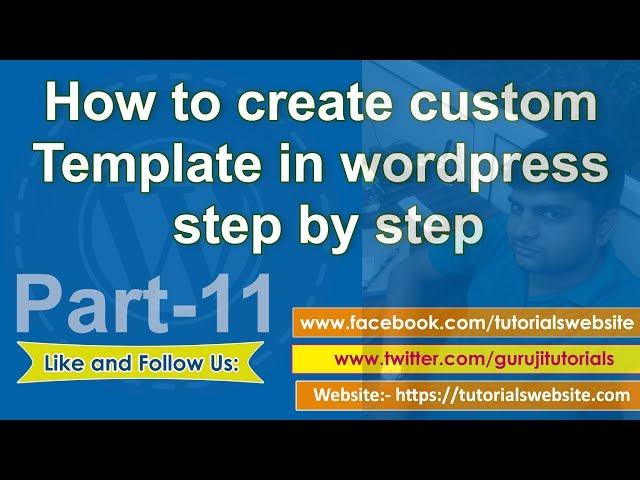 Wordpress tutorial in hindi step by step- Part-11: How to create custom page templates in wordpress
