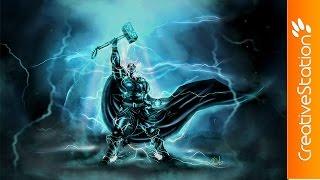 Thor: God Of Thunder - Speed Painting (#Paint Tool SAI) | CreativeStation