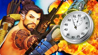 HANZO IN A MINUTE! Overwatch Hanzo 1-Minute Guide | Overwatch Hero Review