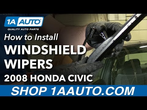 How to Replace Windshield Wiper Blades 05-11 Honda Civic