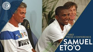 Samuel Eto'o joins Inter | The press conference from his presentation