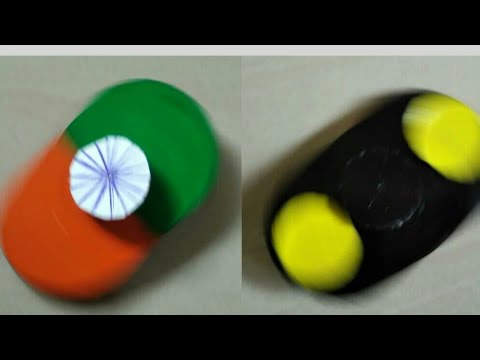 DIY fidget spinner without bearings | Indian flag | batman