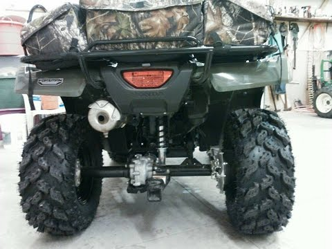 2014 Honda Foreman TRX 500 FM1 4x4 Gets New Interco Radial Reptiles Tires And ITP Black Steel Rims w