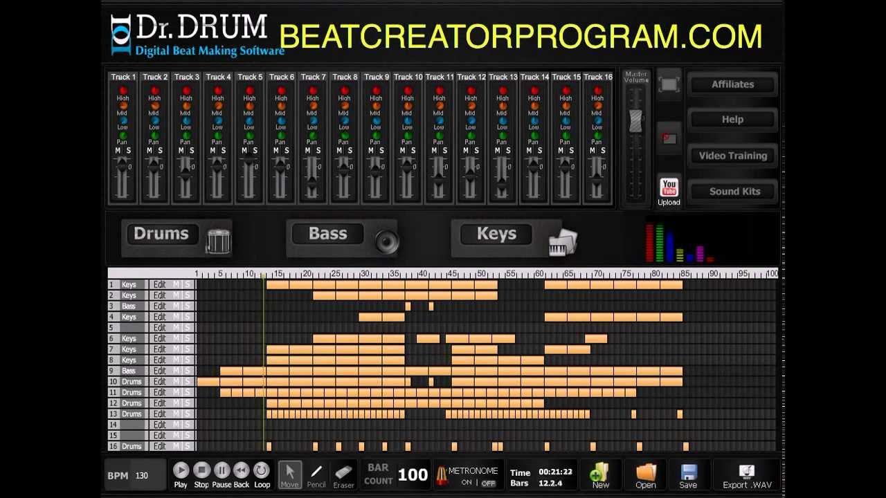 dr drum beat maker software beat making program 2017 youtube. Black Bedroom Furniture Sets. Home Design Ideas