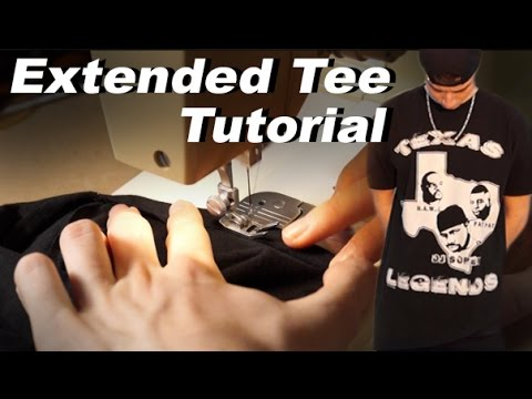Turn Extra Large Shirts Into Extended Tees! Tutorial! Save Money and Look Fly DIY