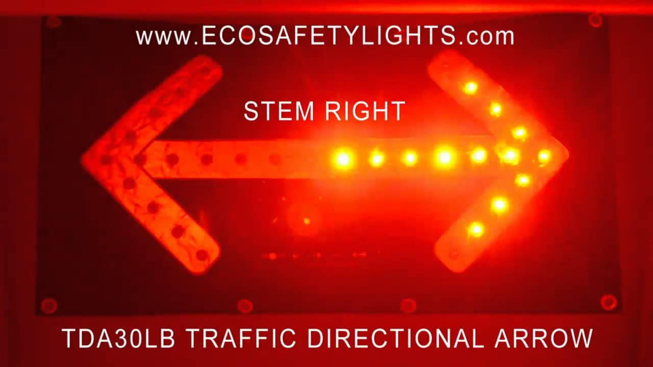 Traffic Direction Arrow Mat Sign Flashing Reflective