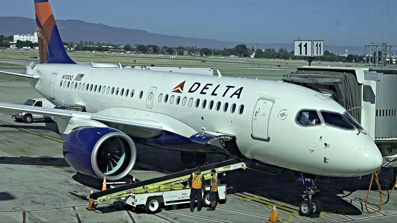 4k Delta A220 100 Bombardier Cs100 First Class Sjc