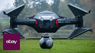 Life-size, fan-built replica of Kylo Ren's 'Last Jedi' TIE fighter