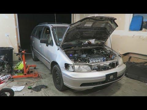 Turbo Minivan Moves Under Its own Power!