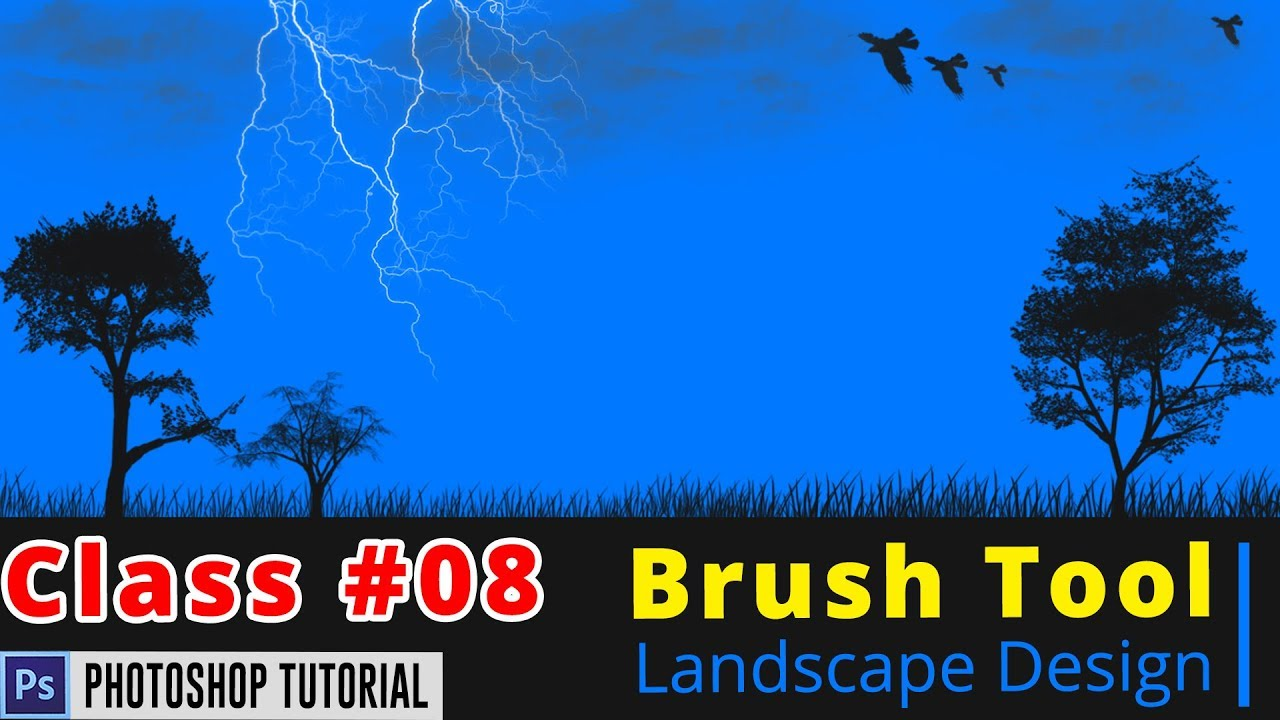 Photoshop Bangla Tutorial : Landscape Design Photoshop ...