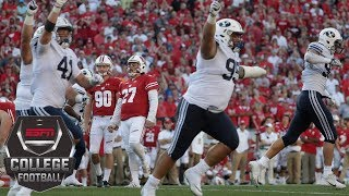 College Football Highlights: Wisconsin Badgers stunned by BYU Cougars | ESPN thumbnail