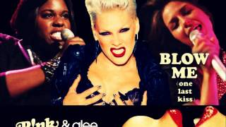 Blow Me (One Last Kiss) - P!nk & Glee (Marley & Unique)