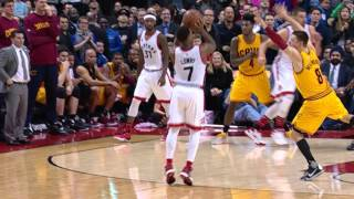Repeat youtube video Kyle Lowry Hits the Game Winner vs Cleveland!