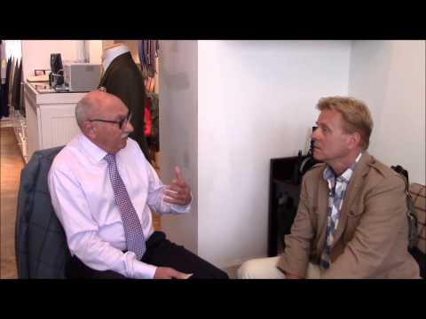 Rudolf Popradi, Besoke Tailor, visits  Richard Anderson at Savile row