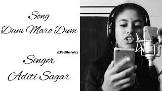 Dum Maro Dum |Arjun Janya |Ashika |Sharan| Rambo 2| feel the lyrics| Aditi Sagar