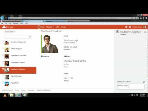 Outlook.com - Chat With Friend Online On Facebook Right From Your Inbox