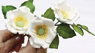 Как сделать красивые цветы из мастики (Beautiful flowers from mastic)