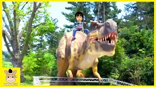 GIANT LIFE SIZE DINOSAUR Playground Fun for Kids and Family Play dino theme park | MariAndKids Toys