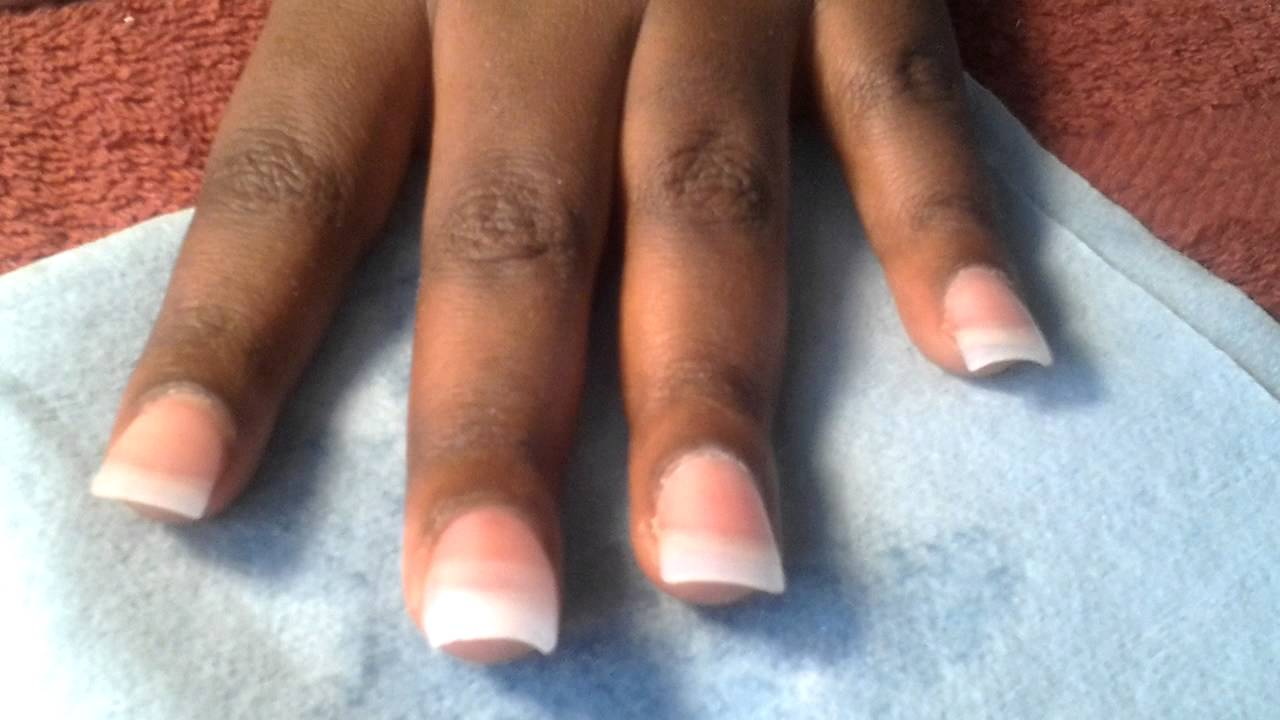 Fix acrylic nail - YouTube