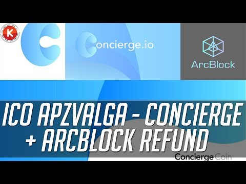 Ico apžvalga - Concierge  + ArcBlock Refund