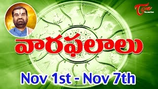 Vaara Phalalu | Nov 1st to Nov 7th 2015 | Weekly Predictions 2015 Nov 1st to Nov 7th