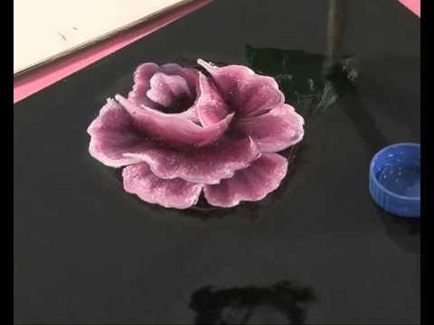 Pintar Rosas Y Hojas Pinceladas Silvia Mongelos Youtube